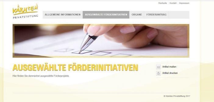 Website der Stiftung