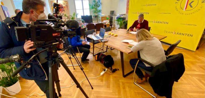 Pressekonferenz mit Gerhard Köfer